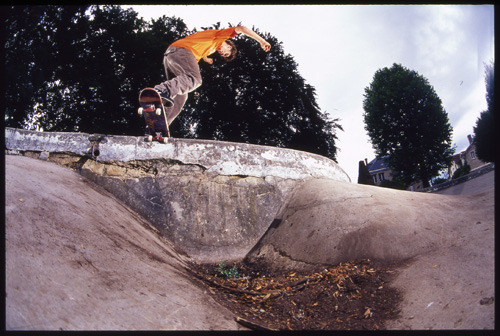 Pontus Alv, frontside noseslide. Poland, 2001  © Mike O'Meally