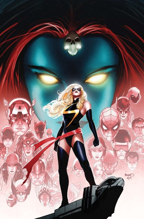 Ms. Marvel #50 variant cover art by Paul Renaud over-sized final issue on sale February 24, 2010