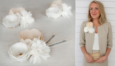 I really like these paper corsages and hair clips from Emersonmade.