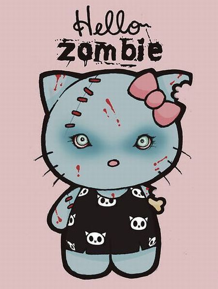 caturday:  Hello zombie