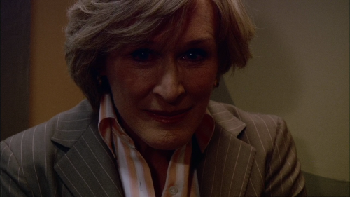 Patricia Hewes (Glenn Close) in Damages. Notice the eyes.