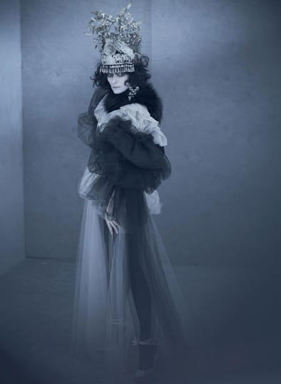 Perfect Headgear of the Day LXI: Tilda Swinton as Marchesa Casati by Paolo Roversi (via The Flog)