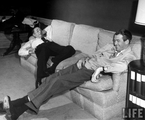 silvercinema:  Leland Hayward and Jimmy Stewart