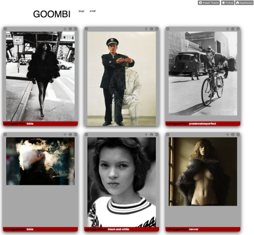 Goombi One of my favorite implementations of PhotoBoard. Super simple, clean, and great content.