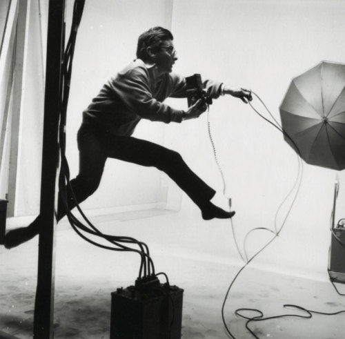 workspaces:  Richard Avedon, 1966 | photographed by Jacques-Henri Lartigue.