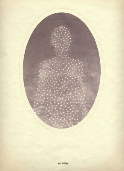 "Euphoria by Dan Estabrook, salt print with ink, 14"" x 11"", 2004 (via Morbid Anatomy)"