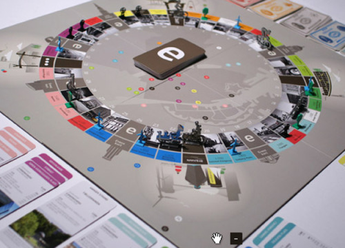 Copenhagen in a Box board game design  Can't say anything about the actual gameplay, but this is visually stunning.