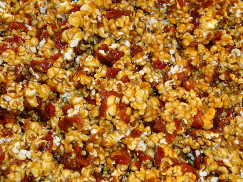 Bacon Bourbon Caramel Corn Available at SaltedCaramel.net via brooksbayne