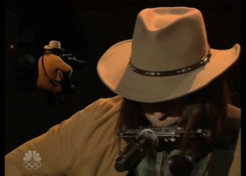 "Jimmy Fallon as Neil Young Sings ""Pants on the Ground"" Jimmy Fallon's cold open last night was another epic Neil Young impression. If you thought his rendition of the Fresh Prince of Bel-Air's theme was impressive, just wait until you hear Neil Young sing Larry Platt's ""Pants on the Ground."" Click through to watch the video. I posted the lyrics, too!"