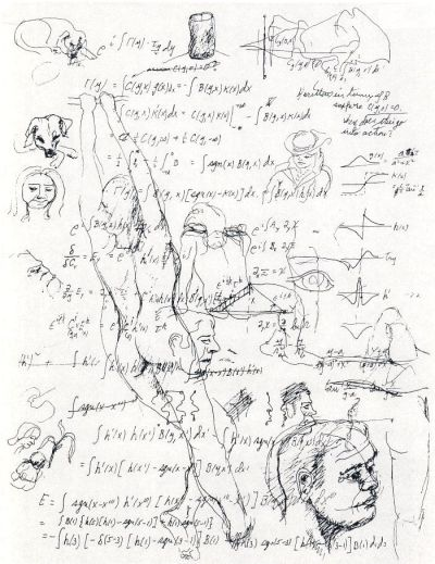 Richard Feynman - Equations and Sketches,1985