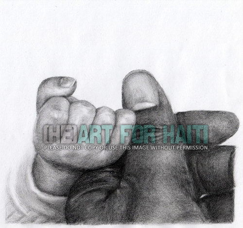 """Helping hands"" Graphite drawing 