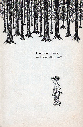 teachingliteracy:  What Did I See? by William Jay Smith, Illustrated by Don Almquist; 1962 (via wardomatic)   (via cafcaf)