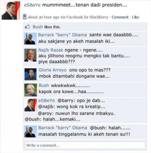 Statusnya SBY di Facebook. LOL. [republish] Facebook SBY - Nasional - Politikana