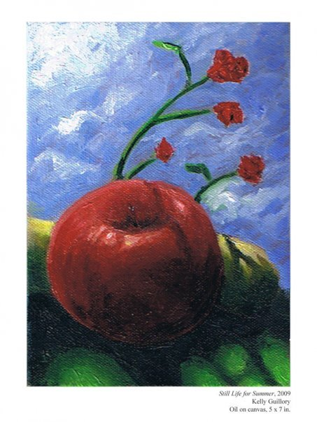 """Still Life for Summer"" 5x7, oil on canvas.  Sold."