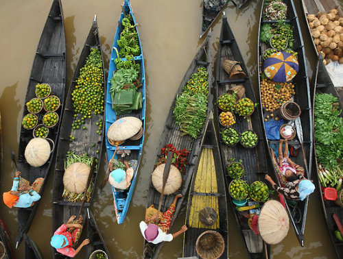 """Lokbaintan Floating Market - South Borneo, Indonesia"" Fine Art Print by Aulia  Rahman [4458829-1] - RedBubble"