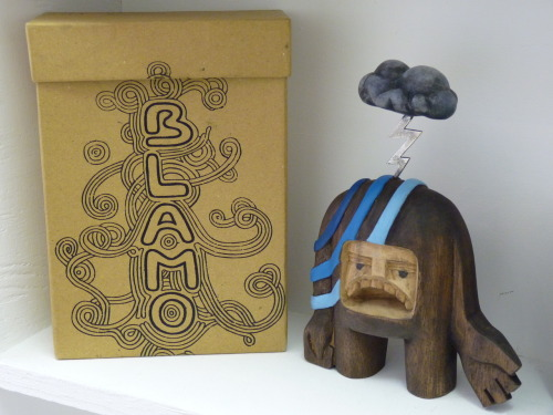 "Now at industtrees: Nimbus from Blamo Toys. ""Nimbus delights few A melancholic poet Writes haiku's for you When not writing poems, Nimbus can be found riding trains and painting."""