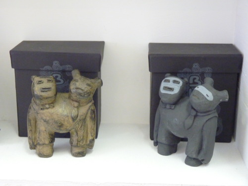 "Now at industtrees: Harold and Ted from Blamo Toys. ""Buried in the ground for hundreds of years, Harold and Ted didn't mind much because they had each other for company."""