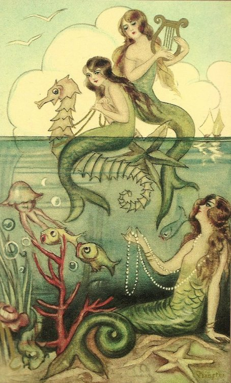 houseofnonsense:  Mermaid Sisters.