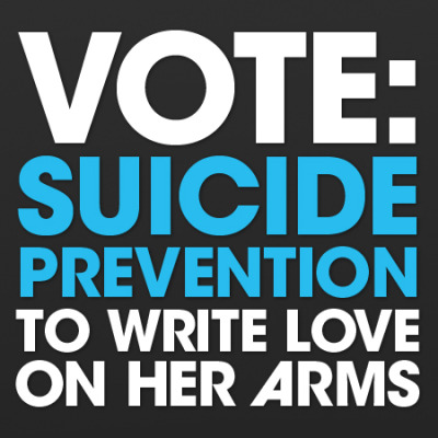 twloha:  jdperry:  Vote for TWLOHA! misschloe:  This will take 30 seconds and this program will reach millions of people. IMAlive will save lives. Every voice and every vote matter. Please do this, it's only a few clicks. Reblog, tell your friends, ask your family, and help us spread the word.