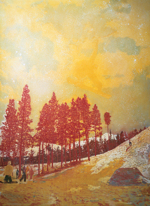 unavoceacaso:  Peter Doig, Orange Sunshine, 1995