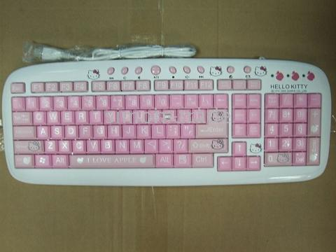 "Hello Kitty ""I Love Apple"" Keyboard"