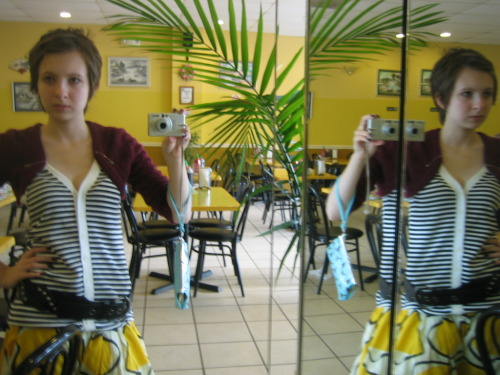 found this slightly old picture. I was having fun with the mirror at the Pho restaurant: )