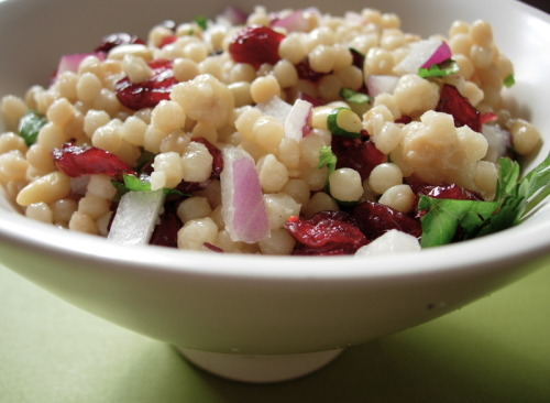 Israeli Couscous Salad  oh hey what's up  (via simplerecipes)