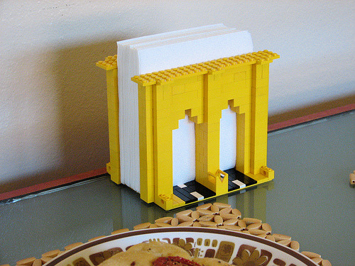 LEGO Brooklyn Bridge Napkin Holder (via L. Marie)