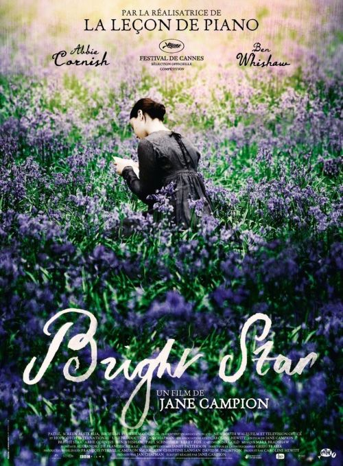 "Film log 2010 #6 Bright Star (dir. Jane Campion, 2009) It's a shame that the characters and the script are quite slight, and that the poetry is almost sidelined in favour of the sad romance; they really could have done more with the script. There are, however, some beautiful visual moments, which make this film worth seeing. The camera is always used brilliantly - a combination of soft focus and high definition, if such a thing is possible, really brings out the material qualities of what's being represented, transforming the images into a powerful sensory experience. At times I felt as though I was touching the threads and needles going through the ruffs and collars of Fanny's astonishing clothes; hearing the call of the nightingale on top of the plum tree at Wentworth Place; smelling the bluebells of the Hampstead woods; and tasting the rancid blood spewed up by Keats' sick lungs. This visual quality really gave me a sense of the way Keats saw the texture of nature, of fabrics and bodies, of music and air, and was prompted to recreate it in words. ""A thing of beauty is a joy forever"", indeed."