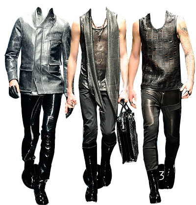 versace a/w 2010 thoughts: aack! never been the leather pant, sleeveless sparkle mesh type…not gonna be.