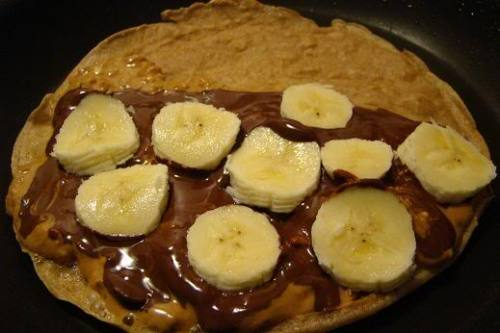 Chocolate Peanut Butter Banana Crepes