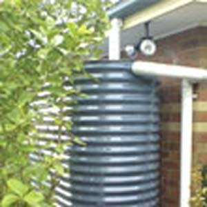 Rain water collection system and storage tank