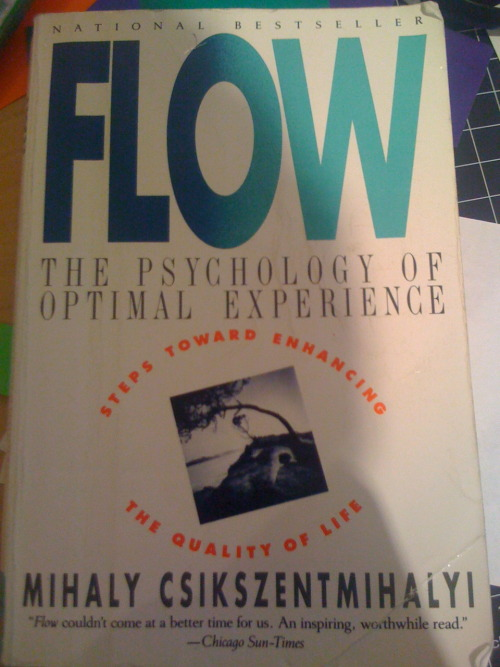I'm starting my flow research with this book by Mihály Csíkszentmihályi: Flow: The Psychology of Optimal Experience.