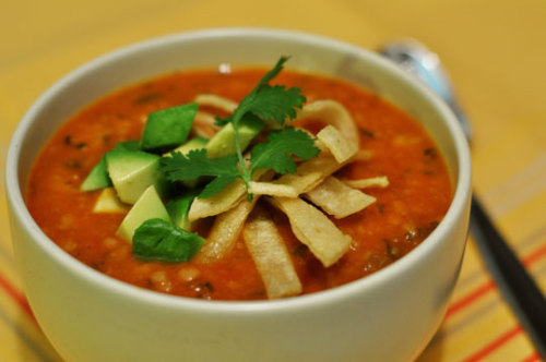 pumpkin tortilla soup
