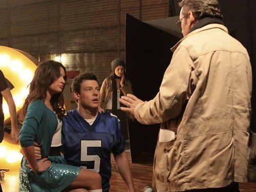 behind the scenes at the glee uk promo shoot.
