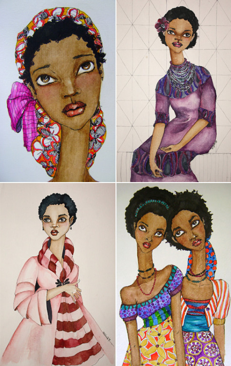 Pretty pretty pretty illustrations by Brianna McCarthy! (via KinkyCurlyQueen & Kiss My Black Ads)