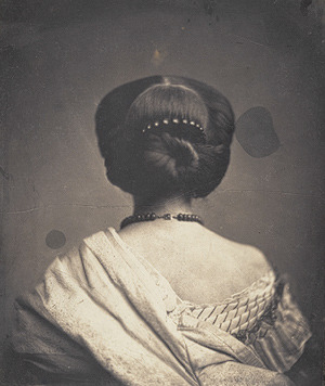 Woman Seen from the Back, ca. 1862Onésipe Aguado (French, 1827–1894)Salted paper print from glass negative Gilman Collection, Purchase, Joyce F. Menschel Gift, 2005 (2005.100.1) via:http://www.metmuseum.org/toah/hd/frph/ho_2005.100.1.htm