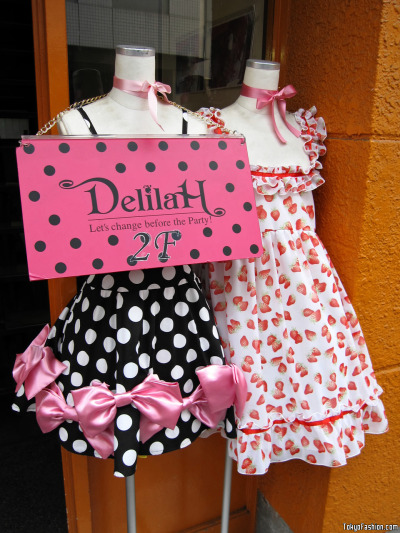 Cute Dresses at DelilaH in Shibuya (via tokyofashion)