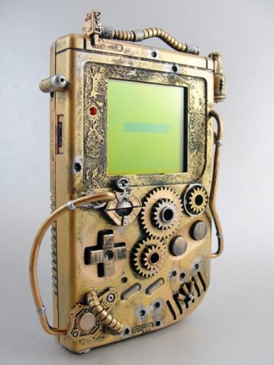 Awesome Steampunk Gameboy.
