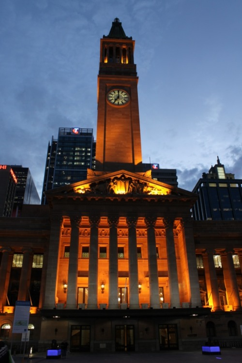 This week I attended a night photography class in King George Square in Brisbane City. Above is one of my favourite shots. I've posted my other favourites on Flickr here: http://www.flickr.com/photos/awhisperer/sets/72157623265937036/