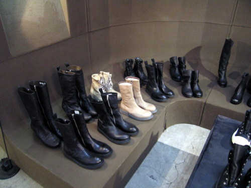 Rick Owens Fall 2010 showroom