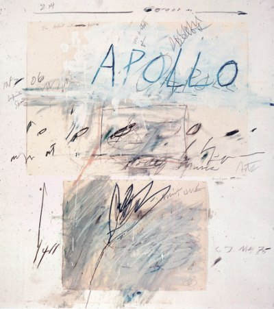 cinoh: art-documents:   Cy Twombly / Apollo and Artist, 1975