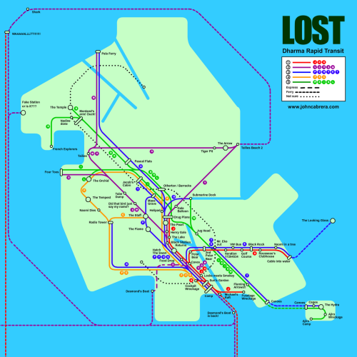Lost Subway Map