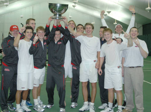"A little different gymspiration: ""Our"" Ole Miss Men's Tennis Team They beat our archrival for the 24th consecutive time last night in a match that lasted over 6 hrs because of inside play after being down 3-0. There is only one senior and junior on the team and only one guy from the U.S.."