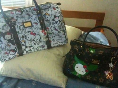 Tokidoki x Hello Kitty Purses   Submitted by billielorraine