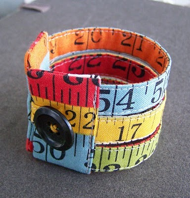 Awesome new handmade fabric cuff from Ponder and Stitch. Free shipping!