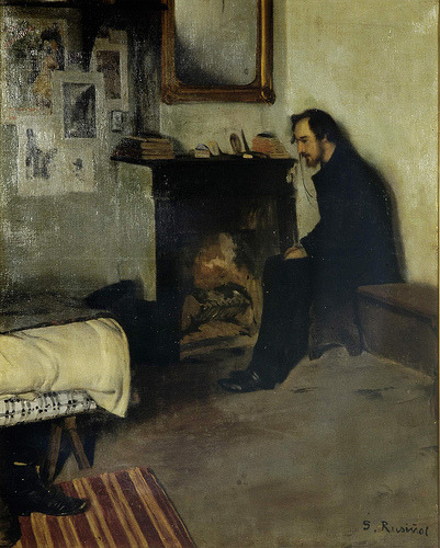 The Bohemian portrait of Erik Satie, Santiago Rusiňol
