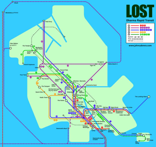 paulscheer:  LOST: THE SUBWAY MAP by John Cabrera Here's a Higher Res Version