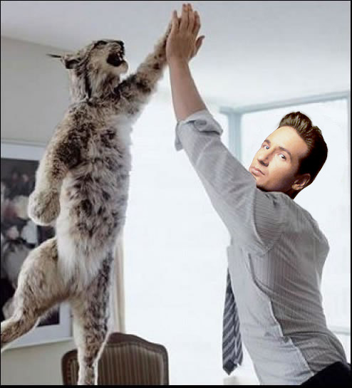 Mulder+bobcat^5 \o/ Credit to notapillowfight for the idea.