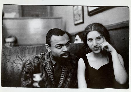Leroi Jones and Diane Di Prima at the Cedar Tavern, April 5, 1960. photo: Fred W. McDarrah